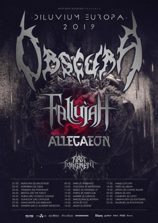 Obscura | Diluvium Europa 2019 Tour